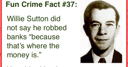 the life on the run of willie sutton Willie sutton was a notorious american bank robber who was known for carrying out robberies in various disguises this biography of willie sutton provides detailed information about his childhood, life, achievements, works & timeline.