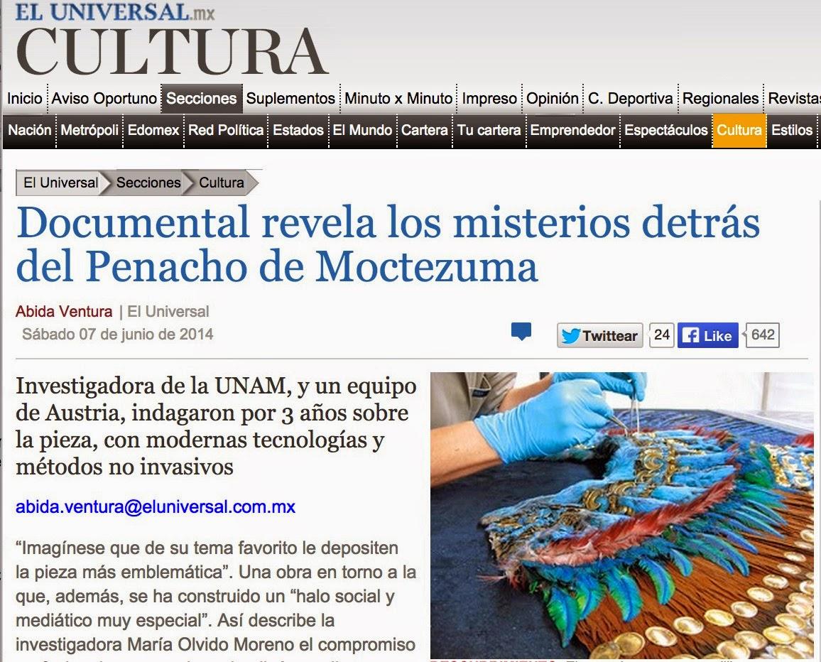 Plumaria de m xico el penacho del m xico antiguo for Articulo de cultura para periodico mural