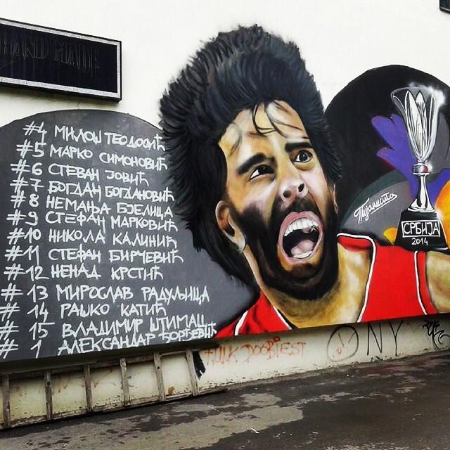 Un graffiti de Belgrado