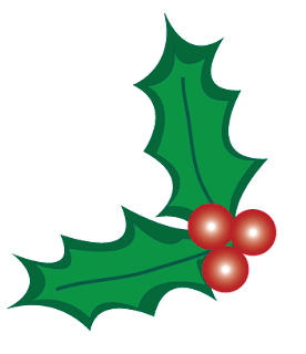 eridoodle Christmas holly berry clip art free download in .png for digital scrapbooking