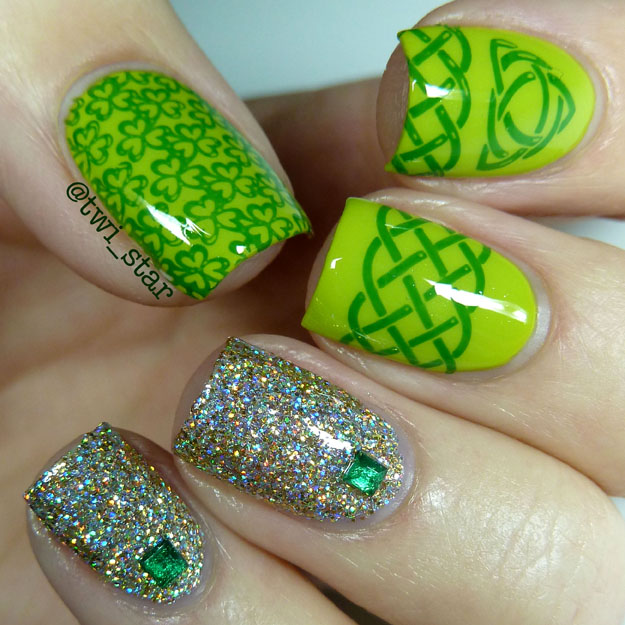 Bundle Monster Lucky Green nail stamping BM-H04 BM-H05