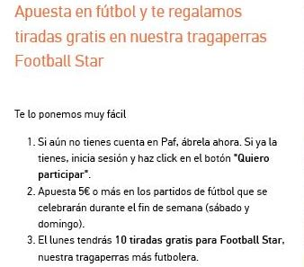 bono gratis apuestas deportivas paf.es para maquinas tragaperras