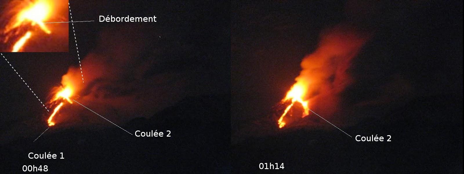 Coulées du 21eme paroxysme du volcan Etna, étape 2