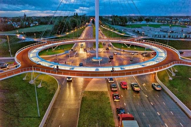 Hovenring — A Suspended Bicycle Roundabout