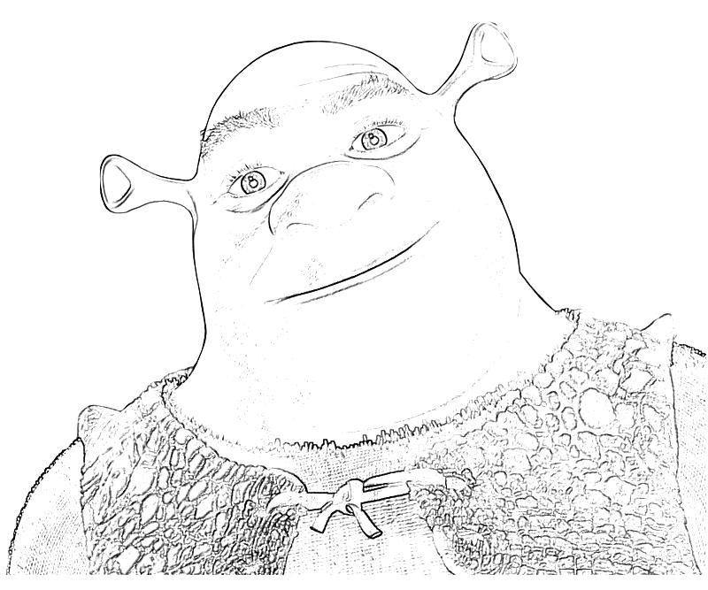 Printable Shrek Fairy Tale Shrek Funny Coloring Pages title=