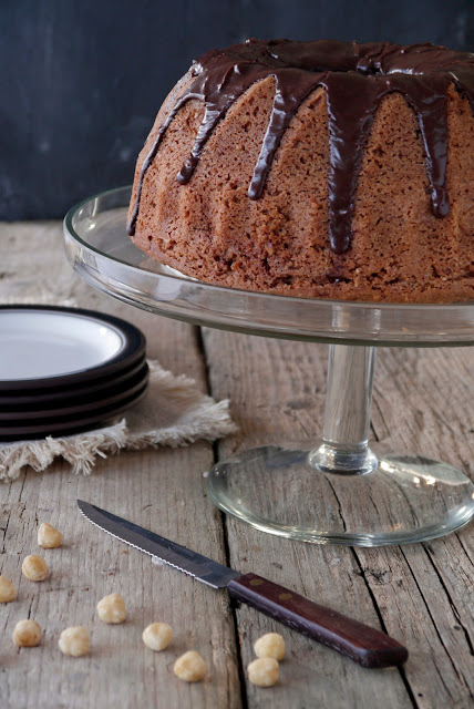 chocolate hazelnut bundt cake
