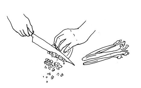 chop onion by Yukié Matsushita
