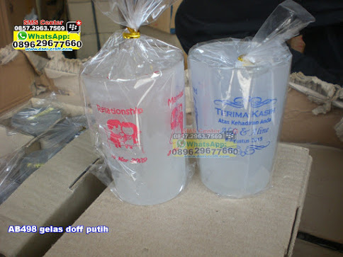 gelas doff putih murah