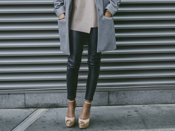 Nia A, what to wear with Topshop leather trousers