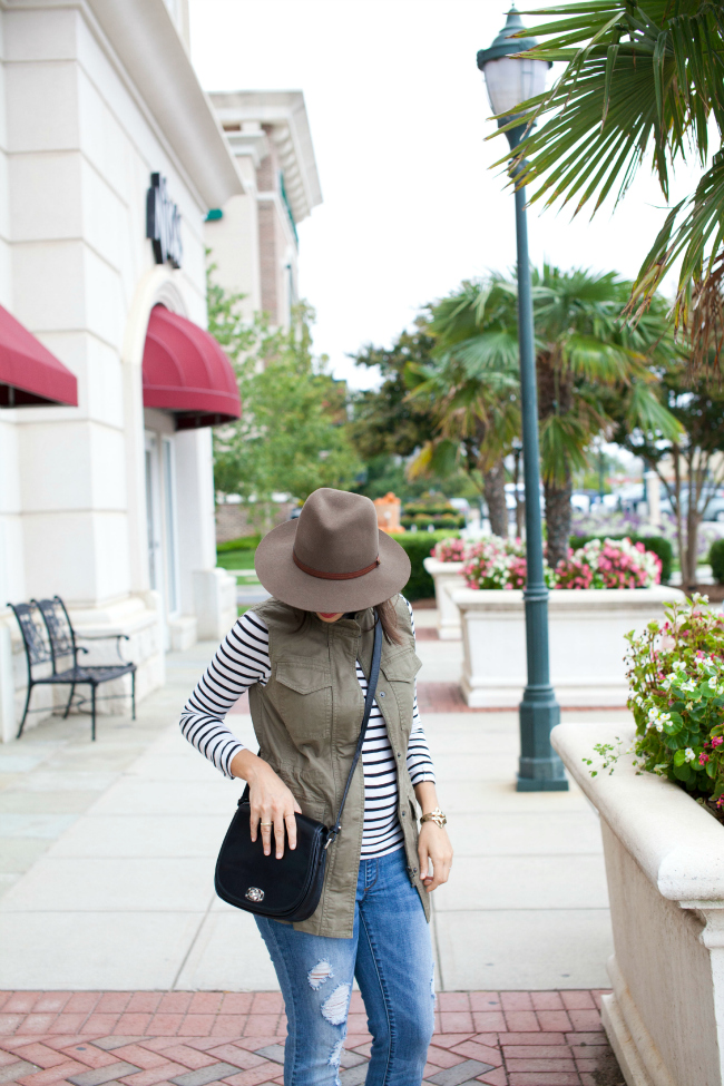 Carolina Style Connection, J.Crew tissue tee, rag and bone hat