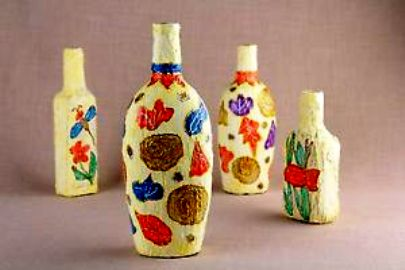 Hand Painted Glass Bottle Easy Arts And Crafts Ideas