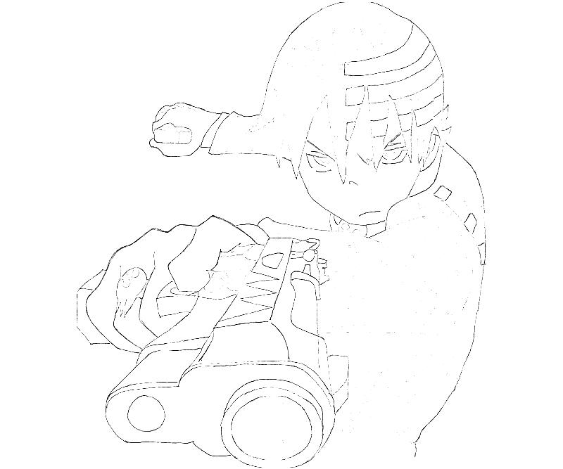 Soul Eater Death The Kid Coloring Pages