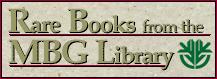 Rare Books • Missouri Botanical Garden Library