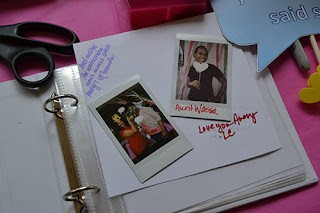 completed photo guest book page