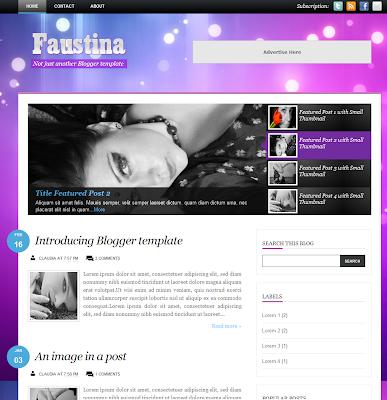 Faustina Blogger Theme