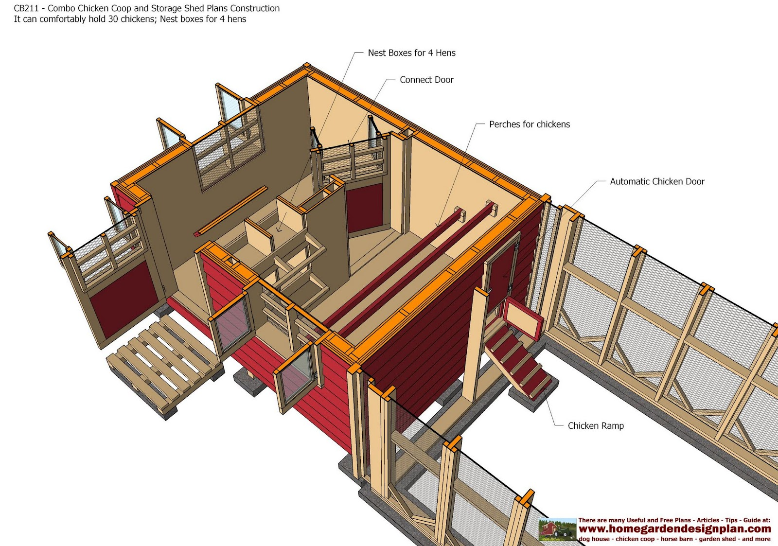 Combo Chicken Coop Garden Shed Plans - Chicken Coop Plans - Storage  sc 1 st  guidlancer & Storage shed playhouse combo plans ~ guidlancer