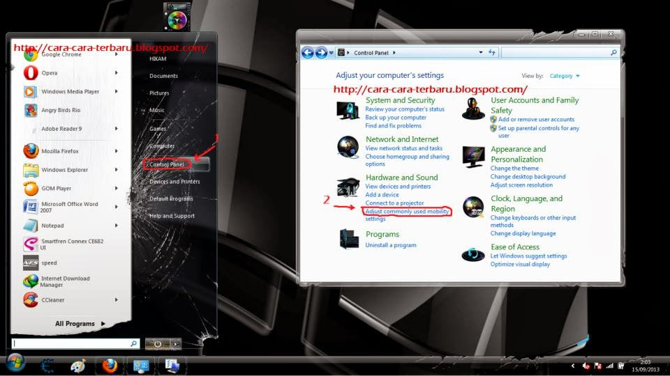 tutorial komputer, windows 7, background