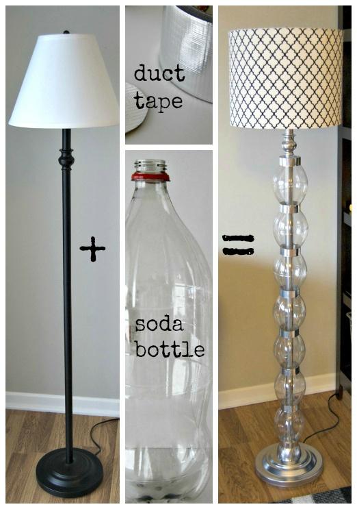 EL MUNDO DEL RECICLAJE: DIY moderniza una lámpara con botellas PET