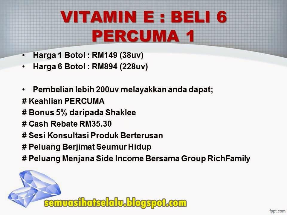 Manfaat Pembelian Set Promosi Vitamin E