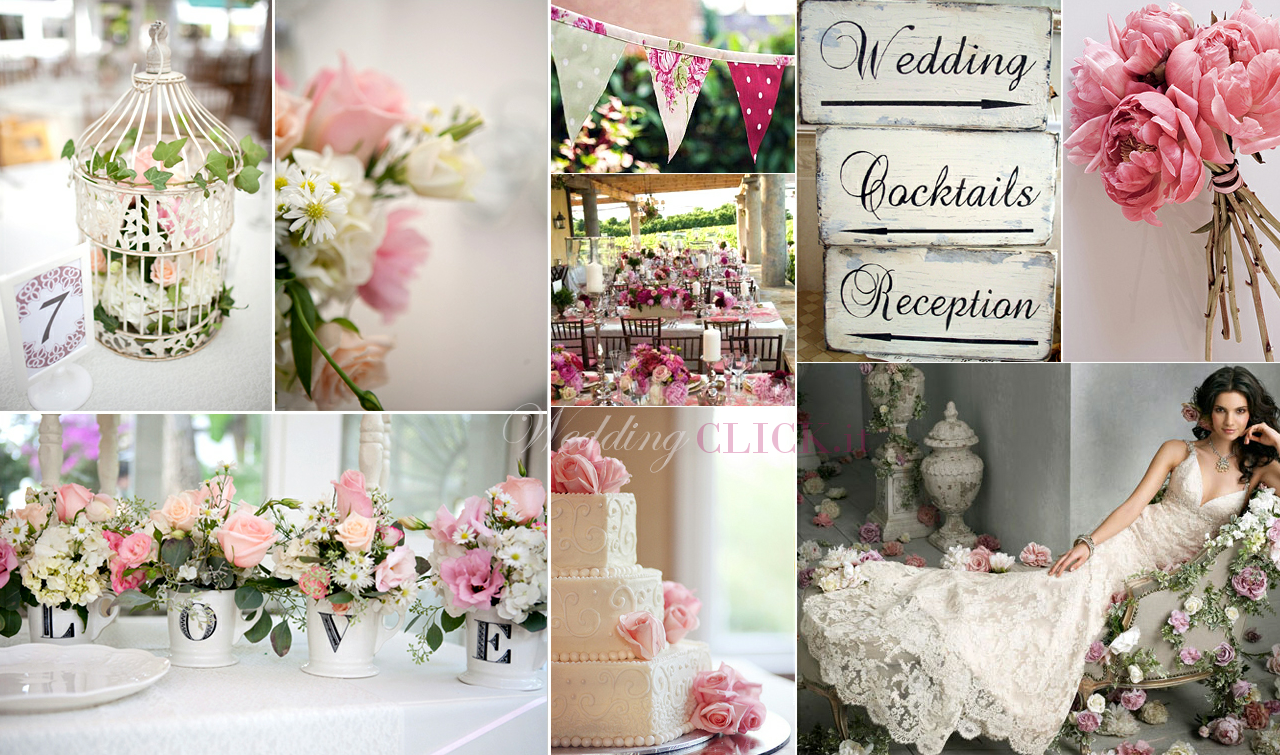 Matrimonio Country Chic Colori : Signorina fantasia matrimonio shabby chic idee