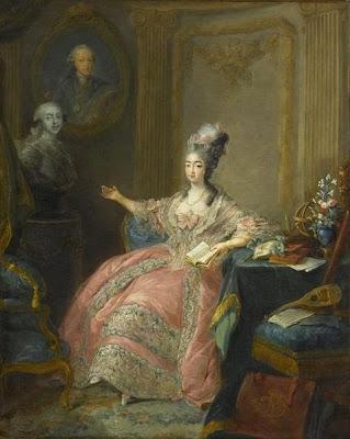 Portrait of Marie Joséphine of Savoy by Jean-Baptiste André Gautier-Dagoty, 1775