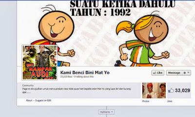 Selain itu sebuah laman Facebook baru dibuka dengan nama Kami Benci