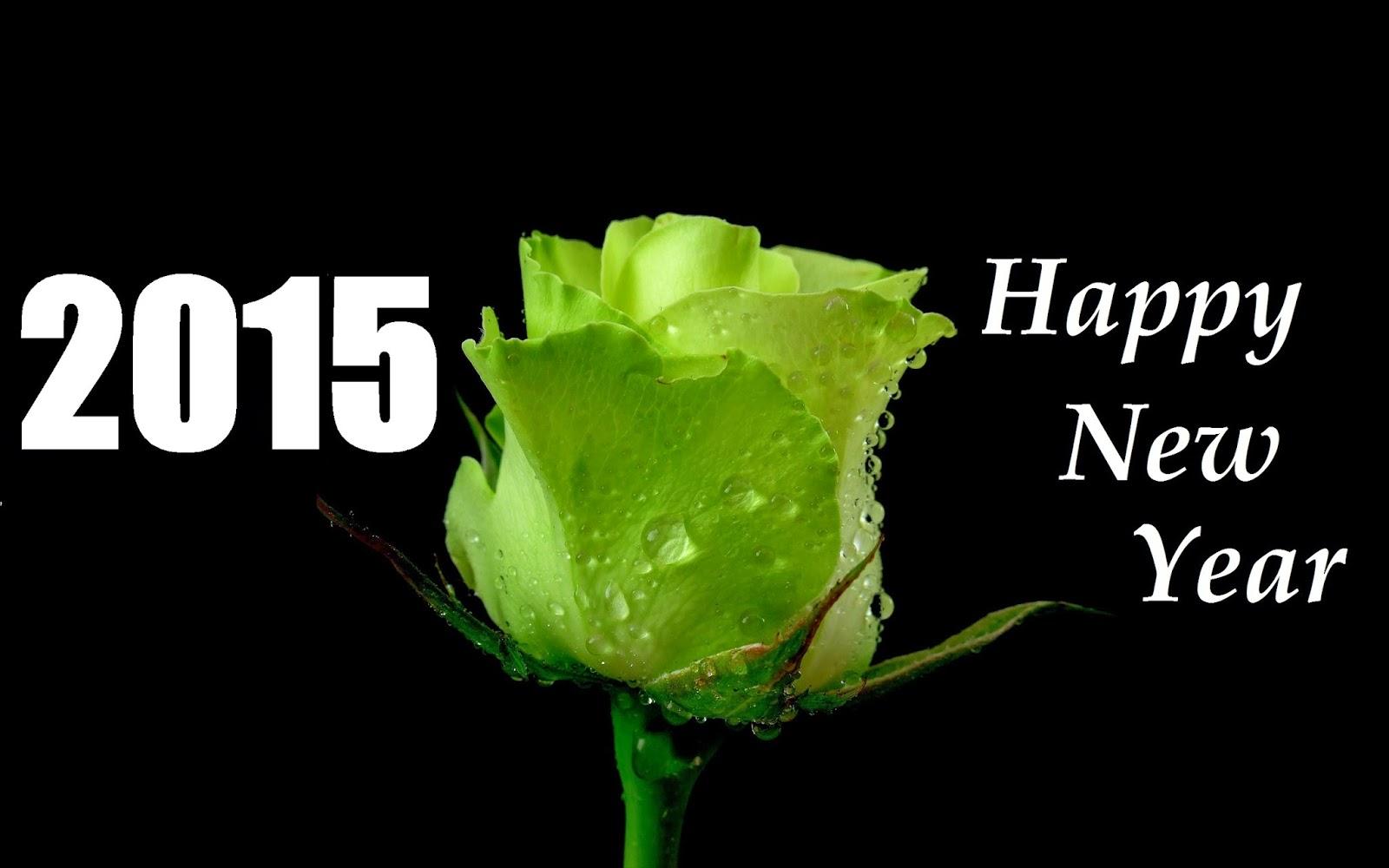 Green rose happy new year 2015 greetings wallpaper kristyandbryce Gallery