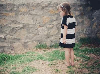 free crochet pattern striped t-shirt dress