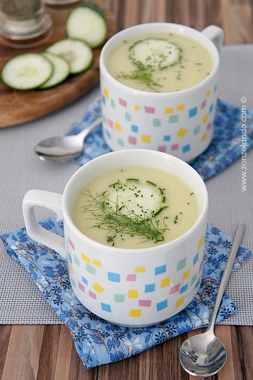 Crema di cetrioli e yogurt ricetta vellutata estiva - summer cucumber and yogurt light recipe
