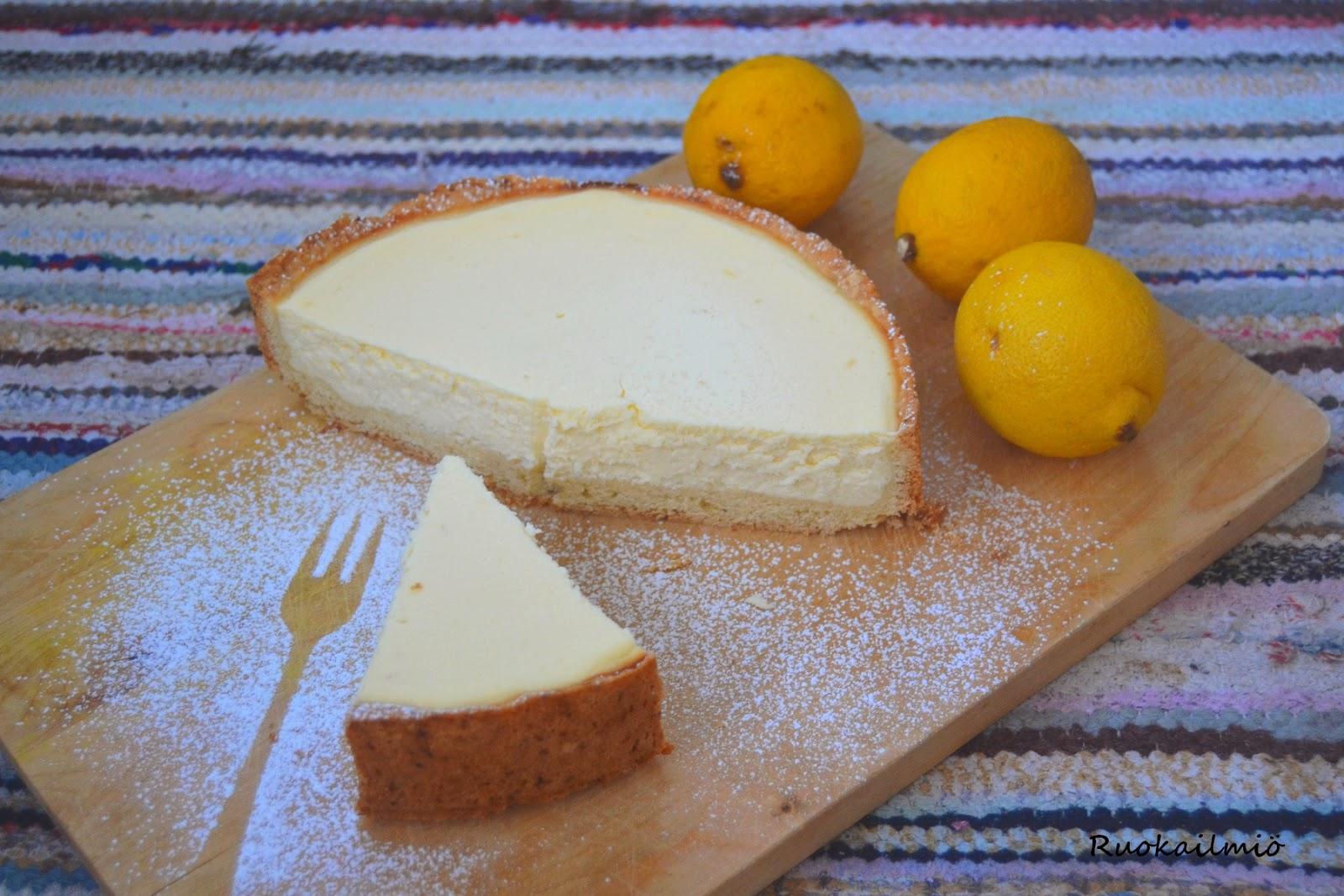 Lemon curd - sitruunajuustokakku