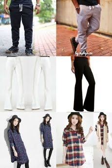 H&M Jogger Pants,     Flare Pants & Long Tops.