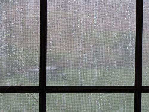 rain through window