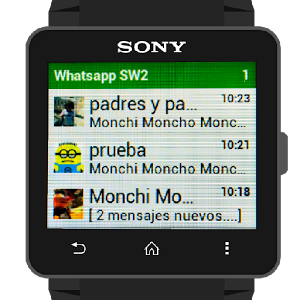 sony smart watch 2 quick reply watsapp and SMS