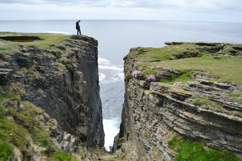 cliff standing orkney