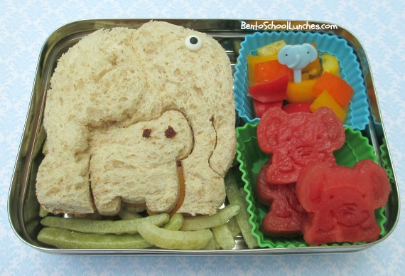 Elephant bento school lunches