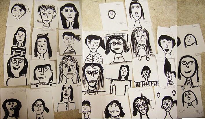 dessin et peinture  u00e0 l u0026 39  u00e9cole  des visages  u00e0 l u0026 39 encre