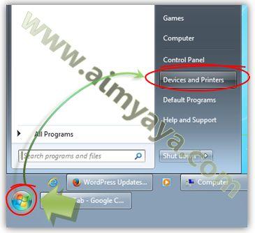 Gambar: Mengakses perangkat dan printer Windows