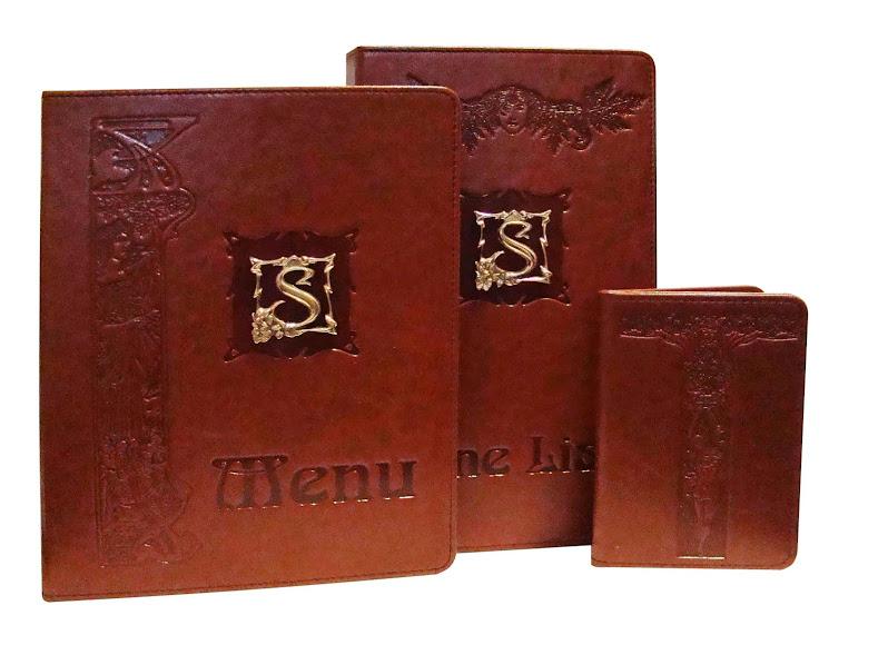 """""""СТАРО"""". Папка-меню, винная карта и счетница из искусственной кожи высокого качества"""