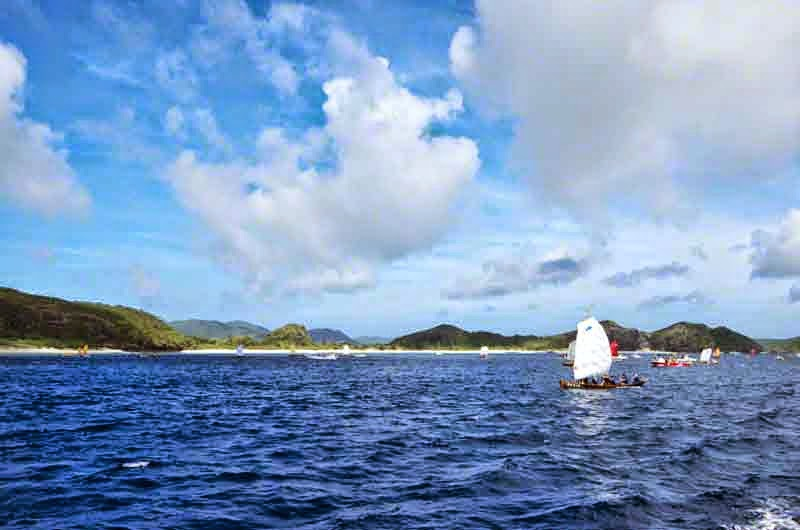 islands, ocean, sailing sabani boats