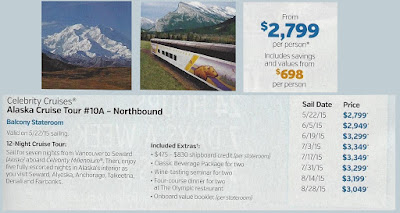 Celebrity Cruises Alaskan Cruise from Costco