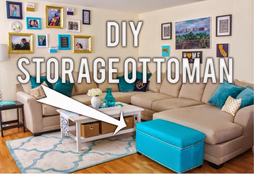 As I admitted in my last DIY post, ever since moving into our new place, I  have been on a craft-kick. When we were cleaning out our old apartment, ... - Kasey's Kitchen: DIY Storage Ottoman Makeover