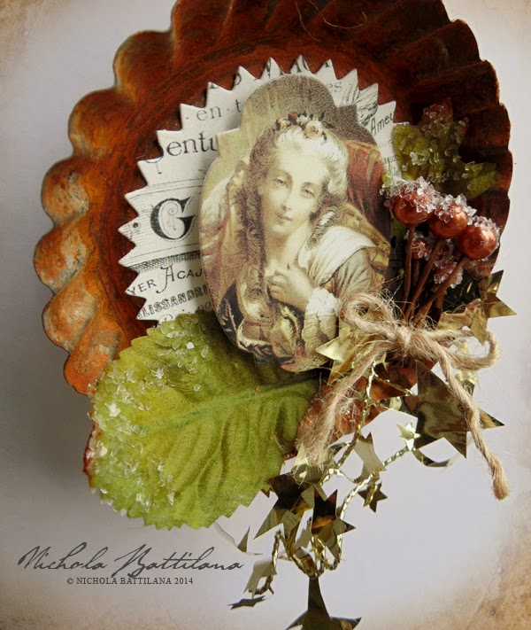Altered tart tin - Nichola Battilana of Pixie Hill