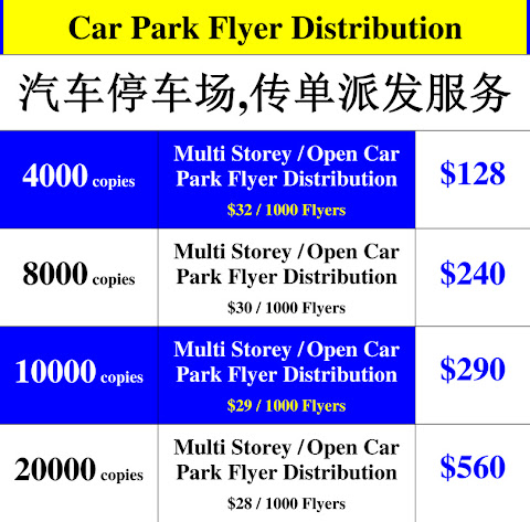 Car Park Flyer Distribution Singapore
