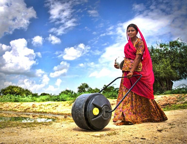 Ruota d'acqua in India