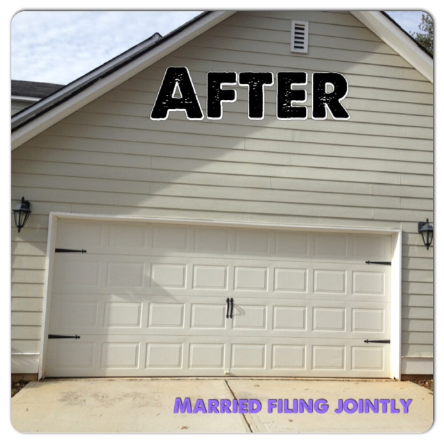 Married filing jointly mfj garage door makeover for Home hardware garage packages cost