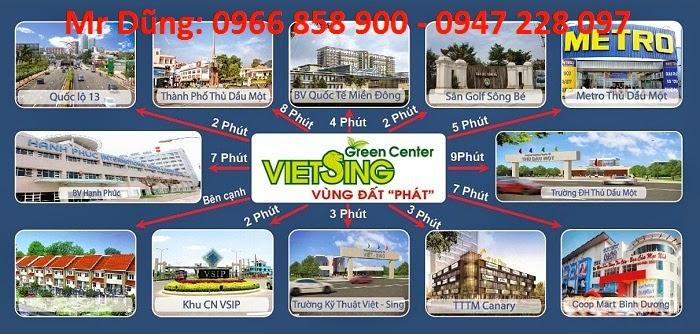 Bán đất nền dự án tại Khu đô thị Việt - Sing The Oasis ảnh 3