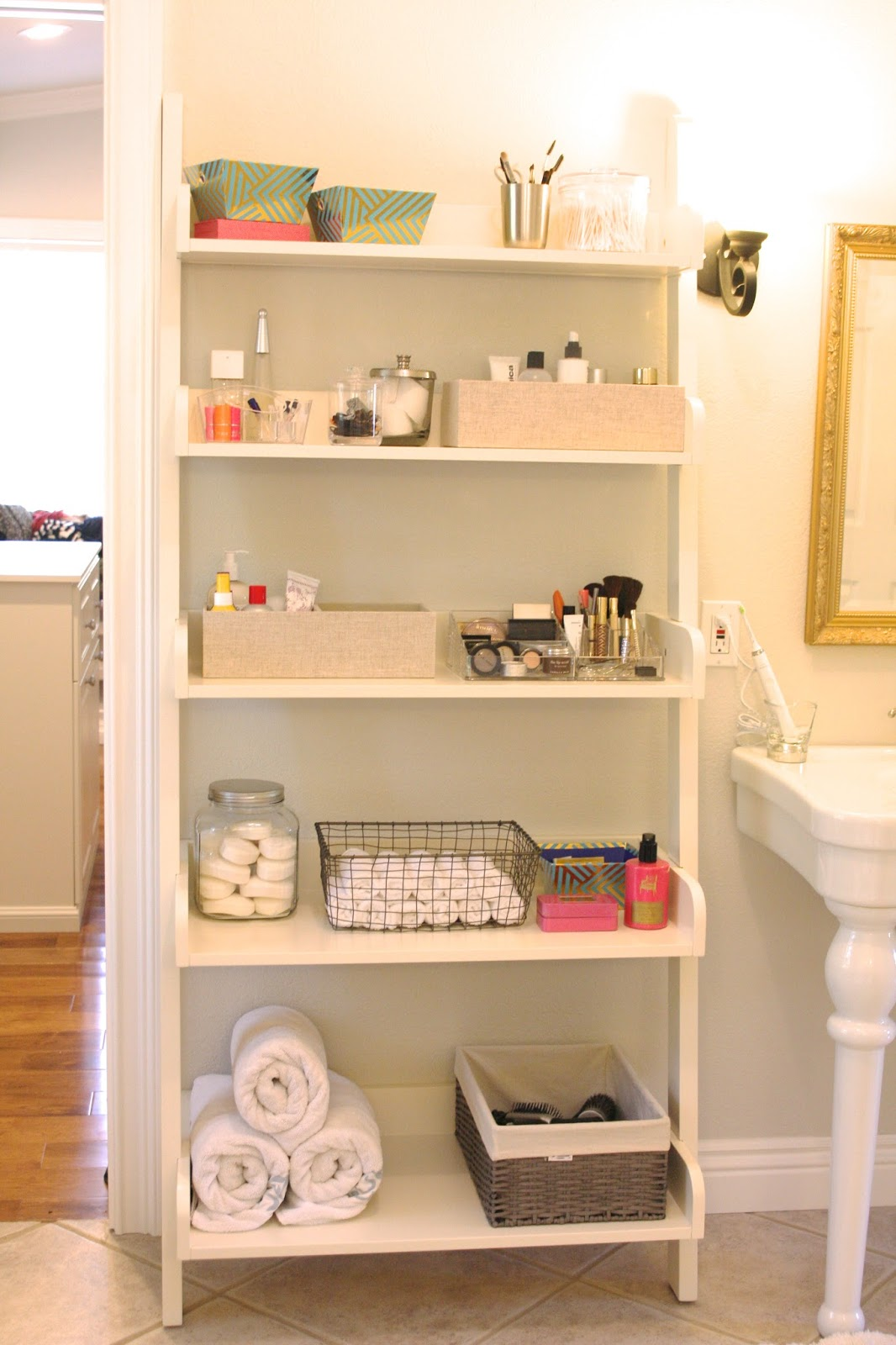 Organized Bathroom Shelving - simply organized