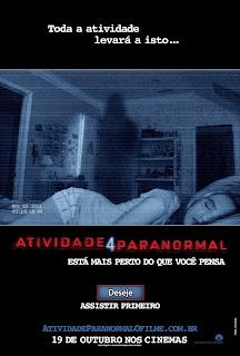 Pôster/capa/cartaz nacional de ATIVIDADE PARANORMAL 4 (Paranormal Activity 4)