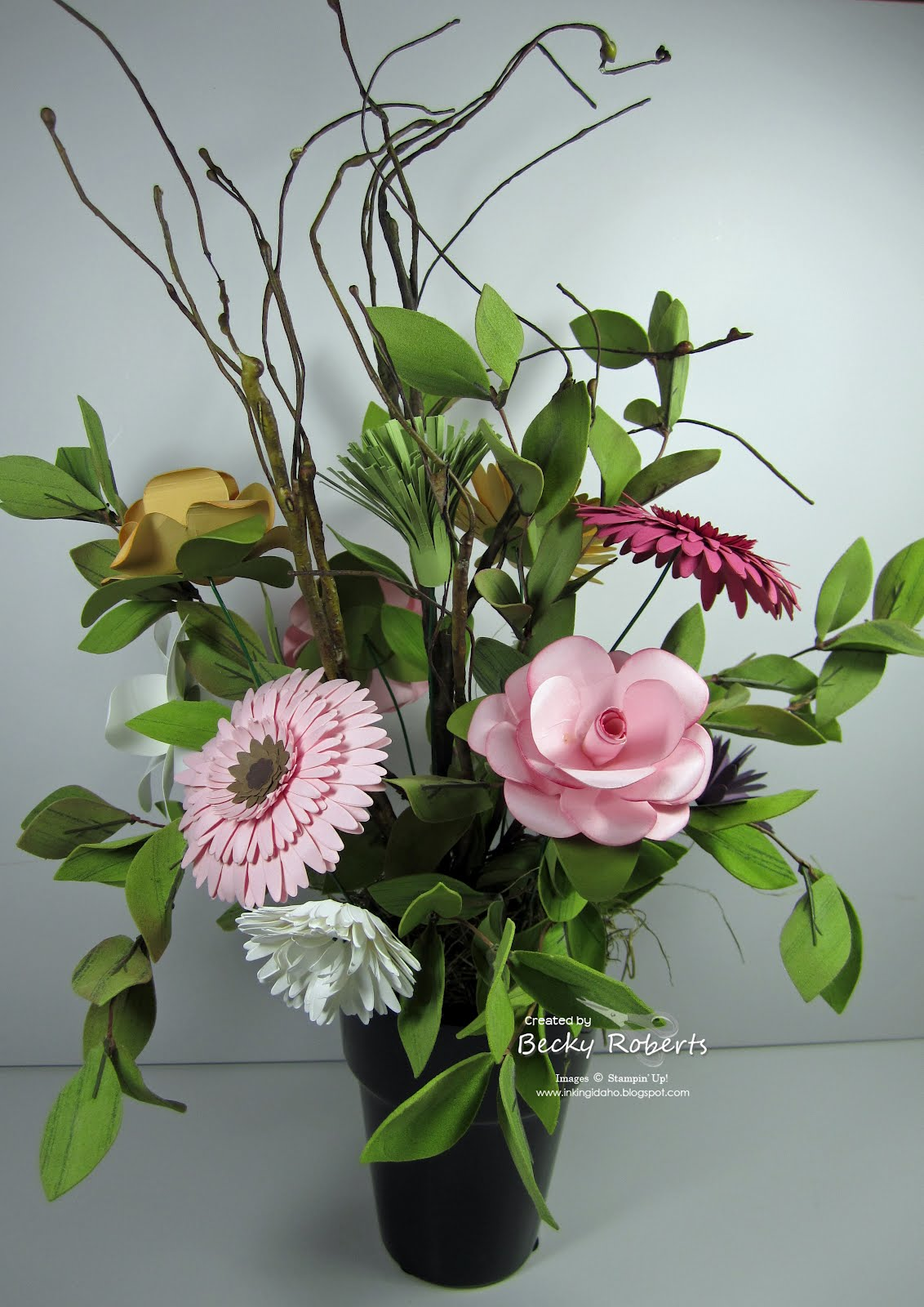 inking idaho  paper flowers