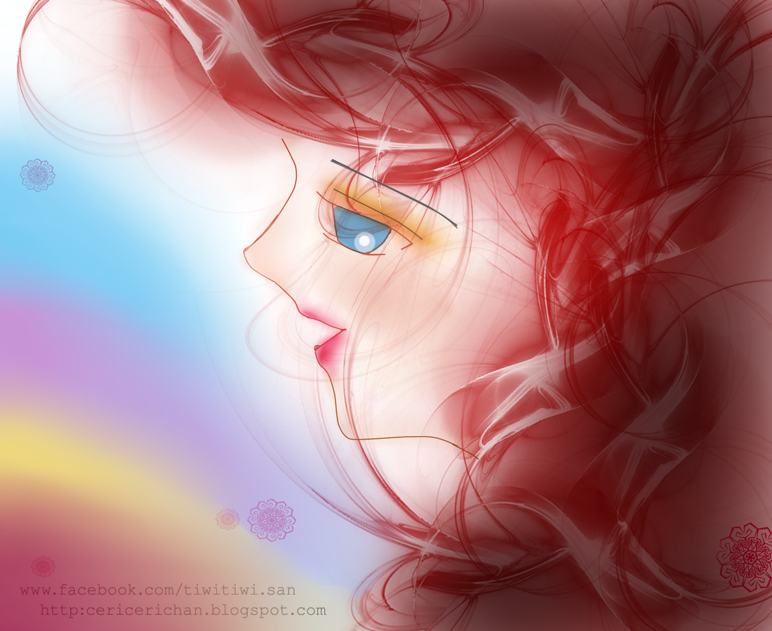 girl, little, rainbow, song, wallpaper, cute, Paint Tool SAI